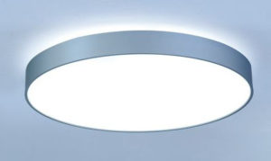 Basic grote ronde led plafondlamp 1200 mm direct/indirect alu profiel met opaal of microprisma plaat