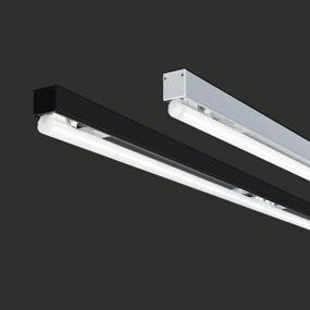 2 x T5 Seamless led SL20.3 lichtlijn voor plafond of pendel, 24 mm zwart of alu profiel met dimbare SLS Led lichtbron