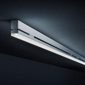 superslank led profiel 24 mm, plafond opbouw of pendel, alu profiel in tunable white opaalstrip