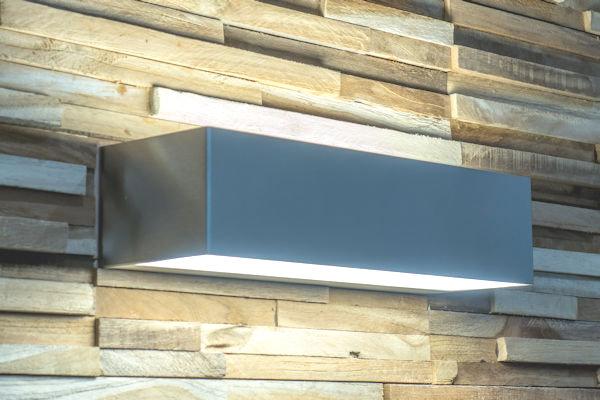 The Wall RVS wandlamp direct/indirect alu profiel 75 x 100 x 300 met decentrale noodverlichting