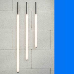 hanglamp, buisverlichting, tube-lighting, rohrleuchte, opaalbuis 50 mm met alu driverbehuizing.
