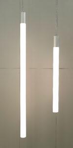 hanglamp, buisverlichting, tube-lighting, rohrleuchte, opaalbuis 100 mm, led TL-verlichting